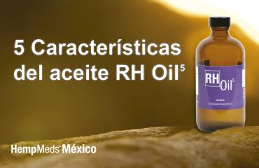 Banner de 5 características del aceite RH Oil