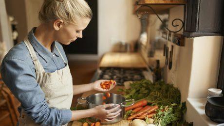 Cocinando semillas que no tienen gluten