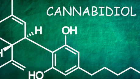 Formula química del cannabidiol (CBD)