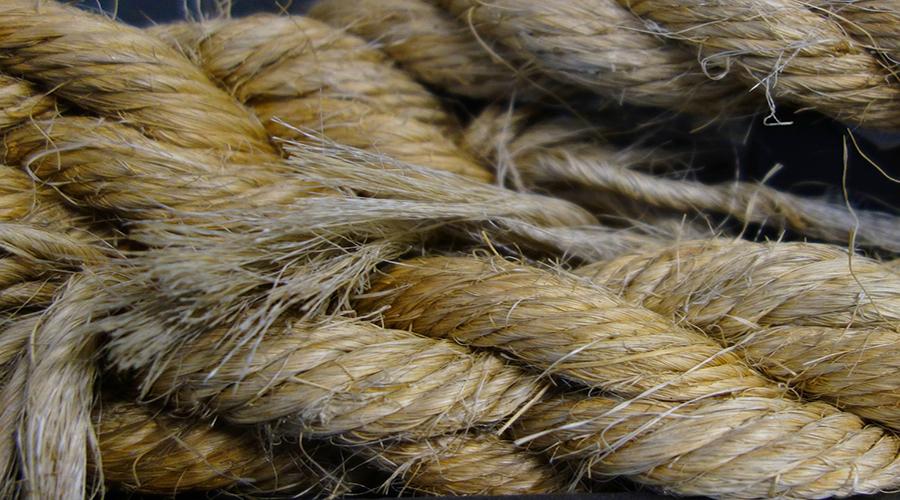 El uso de la cuerda de cáñamo fue importante para los colonos estadounidenses