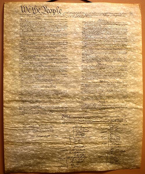 El borrador del acta de independencia escrito en cáñamo